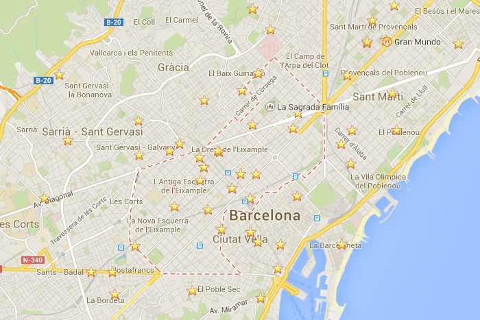 район Эшампле Барселона