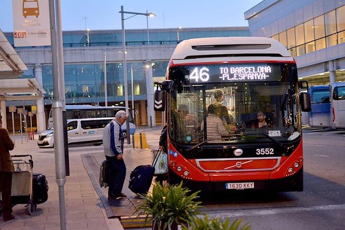 Как добраться из Барселоны в аэропорт на автобусе