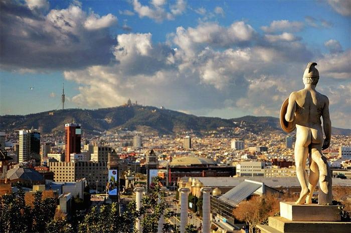 Гора Монтжуик и Площадь Испании