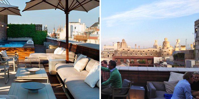 На крыше фешенебельного отеля Omm