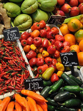 Еда - цены в Барселоне
