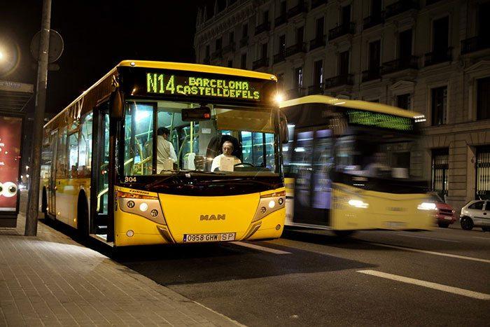 Ночные автобусы в Барселоне