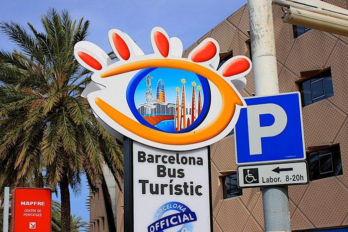 Остановка Бас Туристик в Барселоне