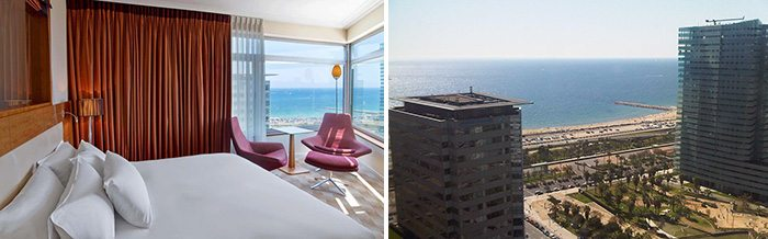 Hilton Diagonal Mar, вид из окна