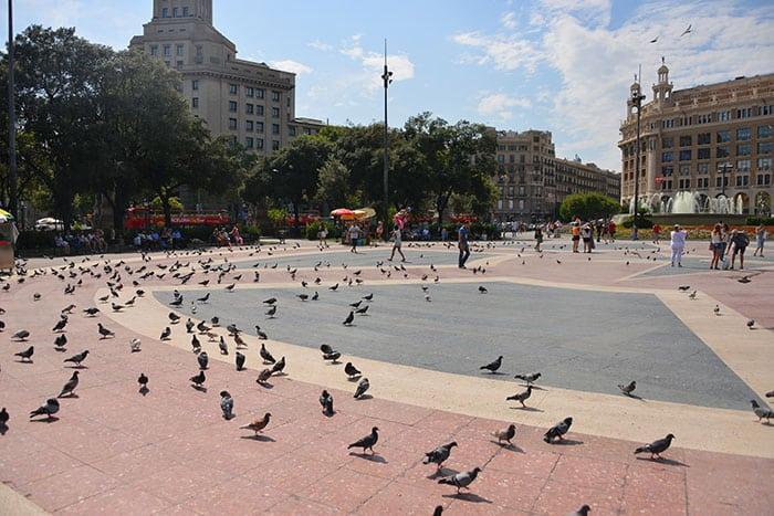 Площадь Каталонии в Барселоне