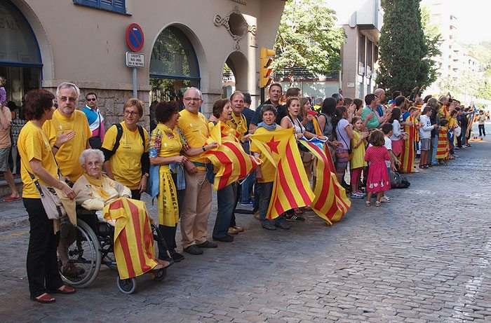 Каталонцы в Барселоне