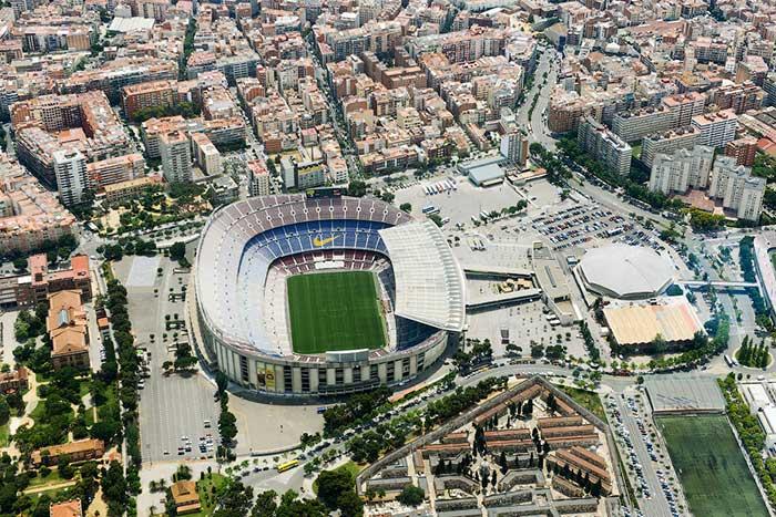 Барселона с высоты птичьего полета: Камп Ноу