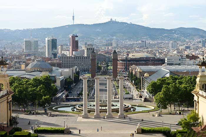 Площадь Испании с высоты