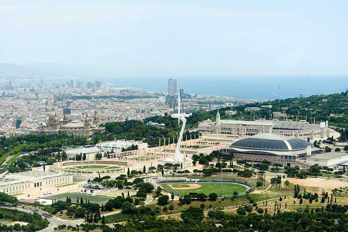 Олимпийская зона в Барселоне