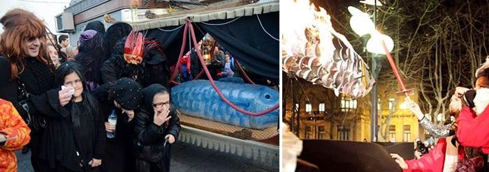 Карнавал в Барселоне, похороны сардины
