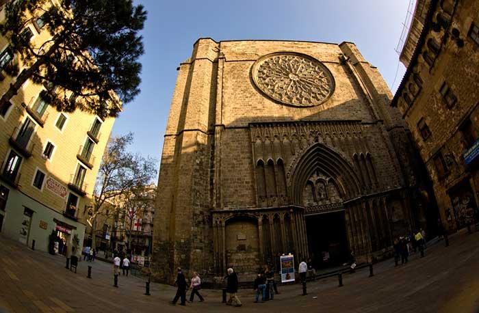 Готическая Барселона: церковь Санта Мария дель Пи
