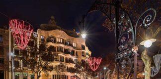 Эстетика оформления Нового года в Барселоне
