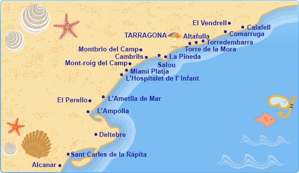 Коста Дорада на карте