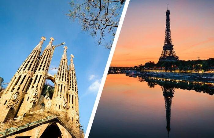 из Барселоны в Париж