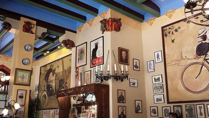 интерьер ресторана Четыре Кота