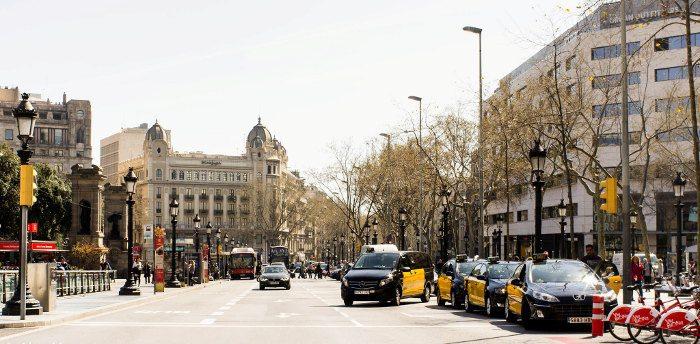 Остановки такси в Барселоне