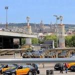 Такси возле вокзала Барселоны