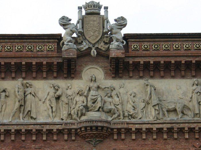 барельеф на Триумфальной арке