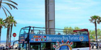 Туристический автобус в Барселоне