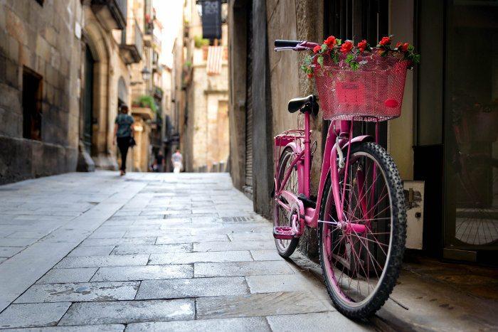В Барселоне на велосипедах
