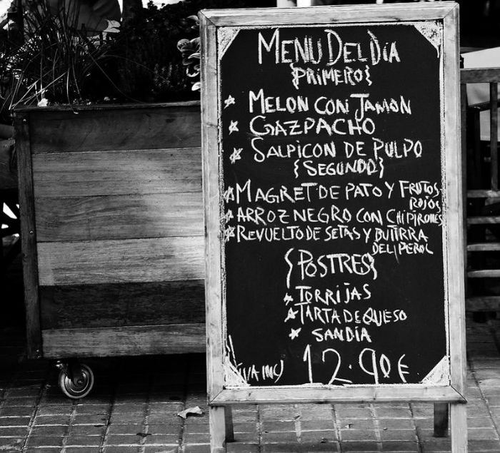 menu del día
