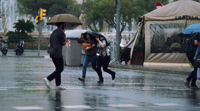 Дождь в Барселоне