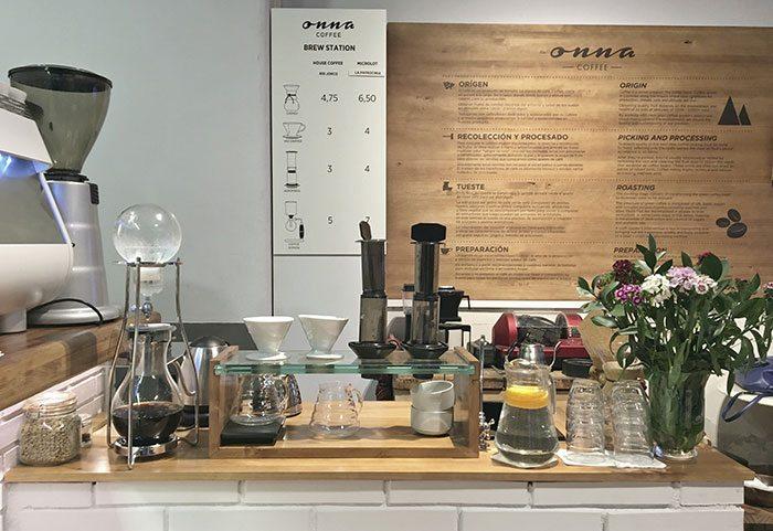 Разновидность кофе в Барселоне