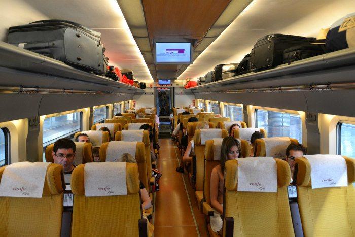 Интерьер поезда