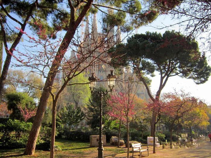 Весна в Барселоне: март