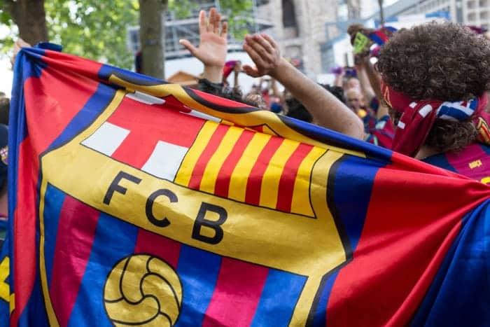 Флаг команды «Барселона»