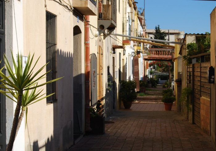 Carrer d'Aiguafreda – переулки из прошлого