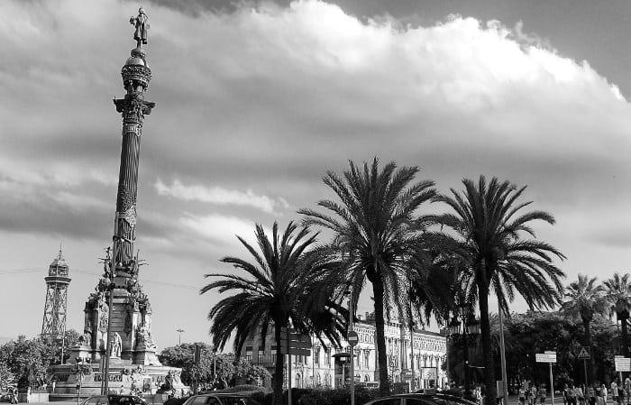 Памятник Колумбу в Барселоне: хроника установки