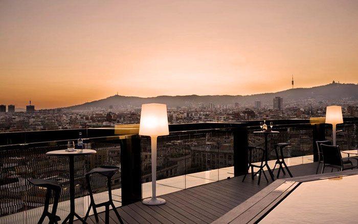 Закат с крыши отеля Barcelo