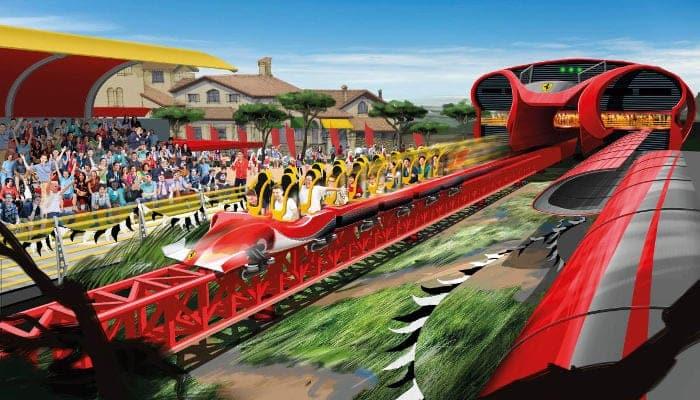 Аттракционы в Ferrari Land