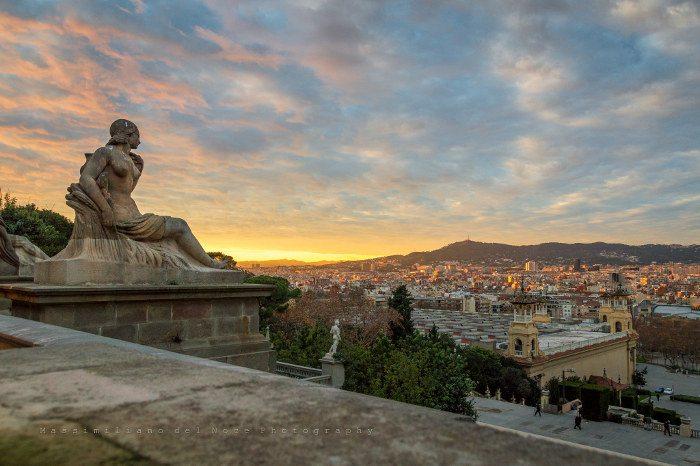 Обзорная экскурсия по Барселоне: Вид с горы Монтжуик