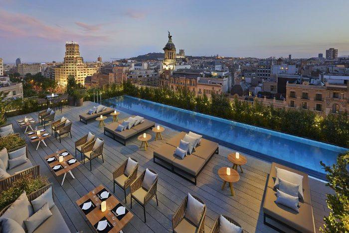 Отель Mandarin Oriental Barcelona вид с террасы