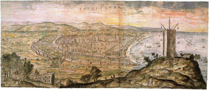 Самая старая панорама Барселоны