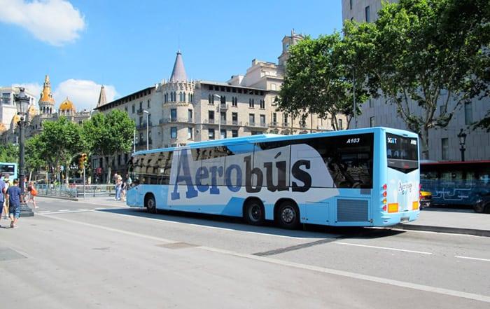 Автобусы Aerobus - Терминалы аэропорта Барселоны