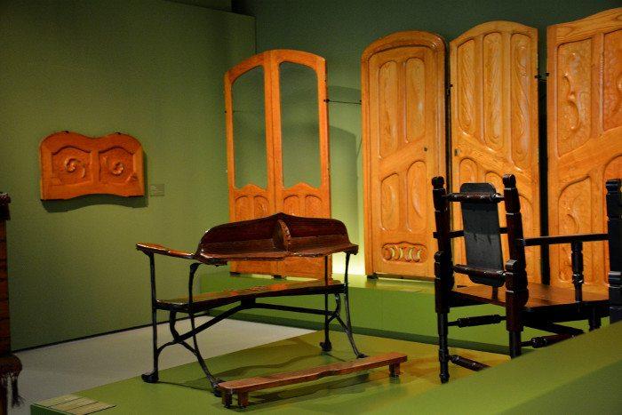 Мебель Гауди в музее MNAC
