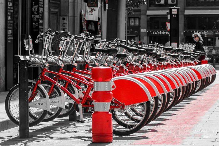 Велосипеды на улицах Барселоны