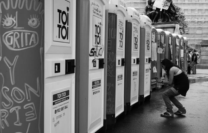 Платных туалетов в Барселоне нет