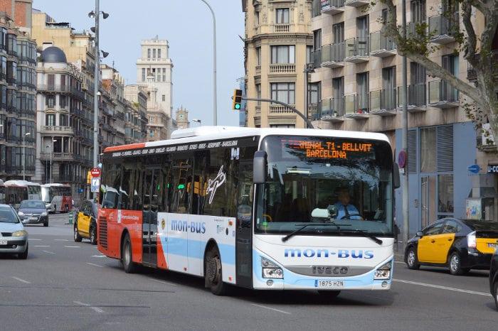 Автобус Ситжес - Барселона