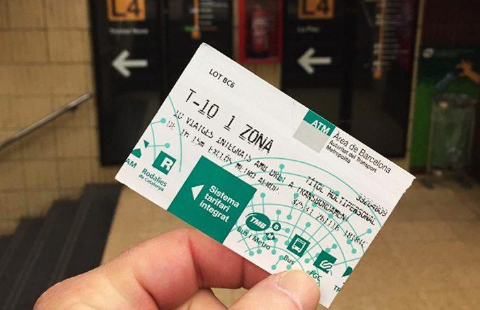 Билеты на метро в Барселоне: Билет T-10