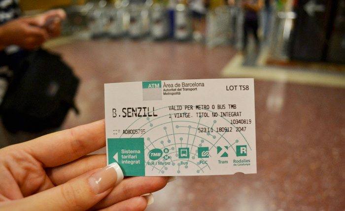 Билеты на метро в Барселоне