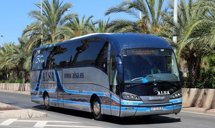 Автобус в Валенсию
