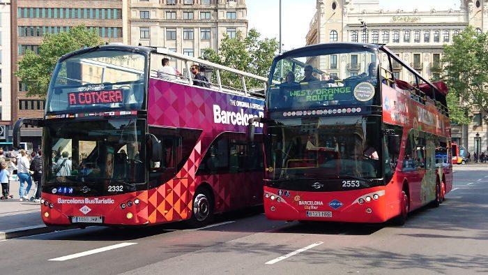 Экскурсионные автобусы в Барселоне