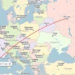 Расстояние между аэропортами и длительность полета