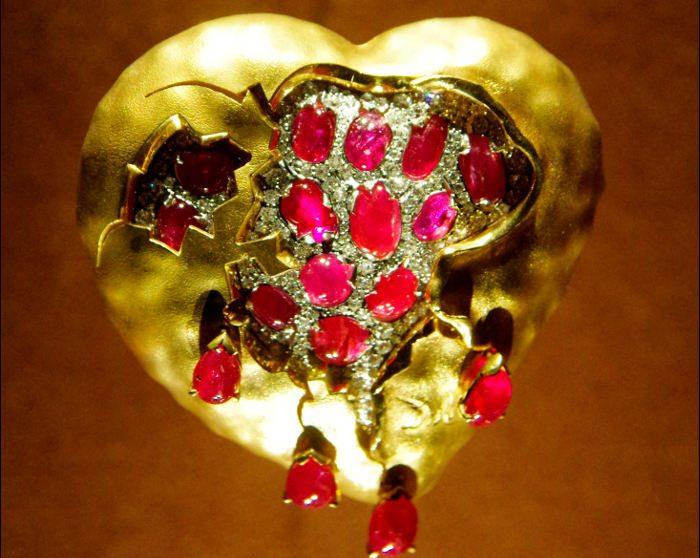 Бьющееся сердце из рубина