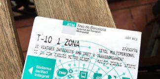 Билет Т10 в Барселоне на транспорт