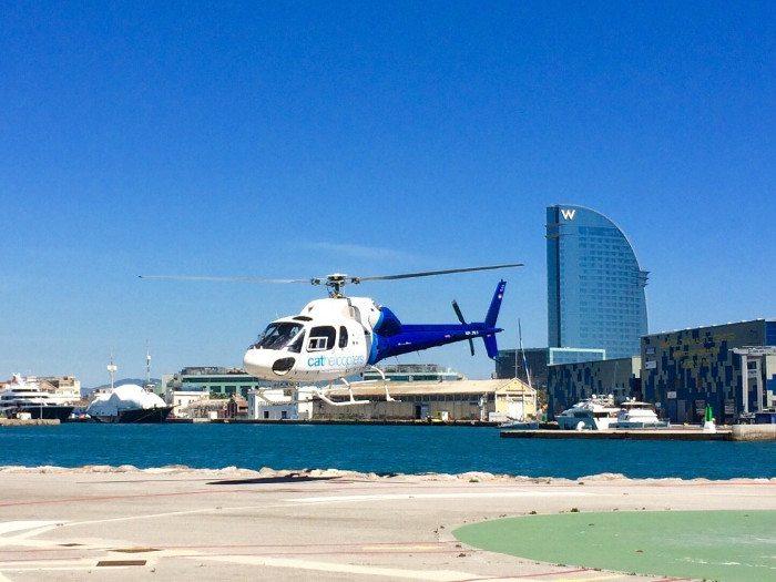 Полет на вертолете в Барселоне - Экскурсии в Барселоне на русском